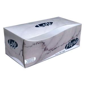 دستمال کاغذی پاپیا 150 برگ 2 لایه طرح سنگ