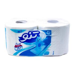دستمال توالت رولی تنو 3 لایه 2 عددی