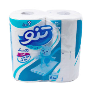 دستمال توالت رولی تنو 3 لایه 4 عددی