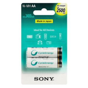 باتری قابل شارژ قلمی سونی مدل Ni-MH AA بستهی 2 عددی
