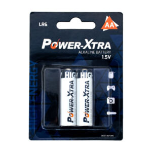 باتری قلمی پاور اکسترا  مدل LR6 – AA بستهی 2 عددی