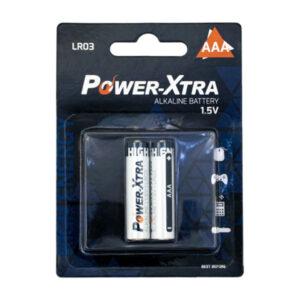 باتری نیم قلمی پاور اکسترا  مدل LR06 – AAA بستهی 2 عددی