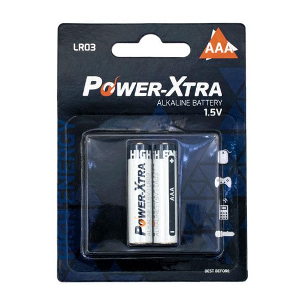 باتری نیم قلمی پاور اکسترا مدل LR06 - AAA بستهی 2 عددی