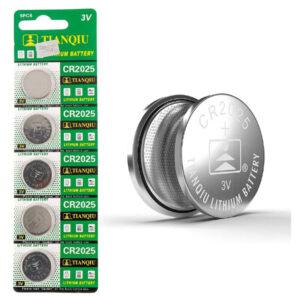 باتری سکه ای تیانکیو مدل CR2025 بسته 5 عددی