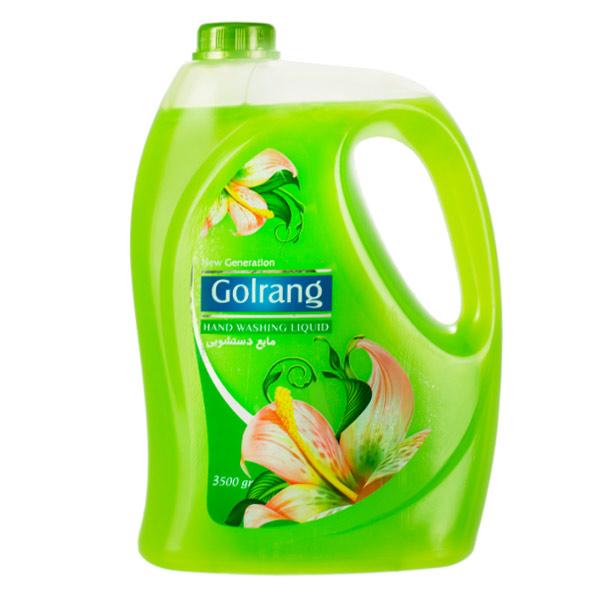 مایع دستشویی صدفی گلرنگ مدل سبز مقدار 3500 گرم