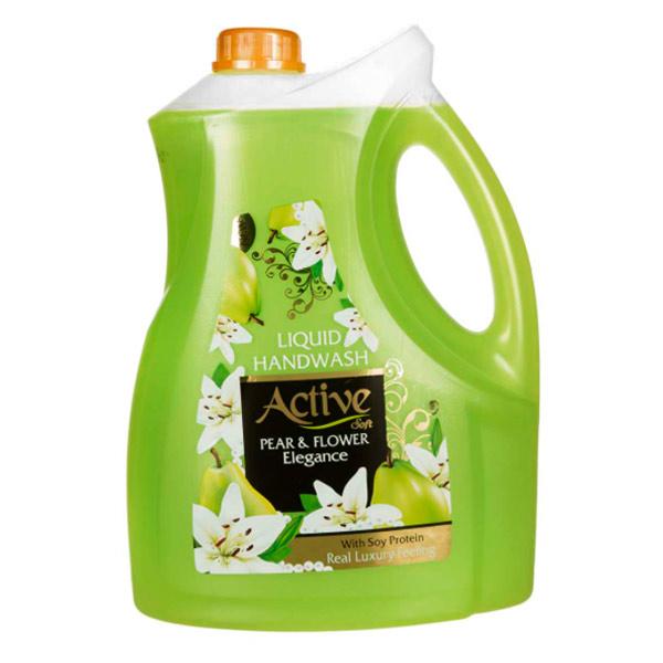 مایع دستشویی صدفی اکتیو حاوی پروتئین سویا مقدار 3750 گرم