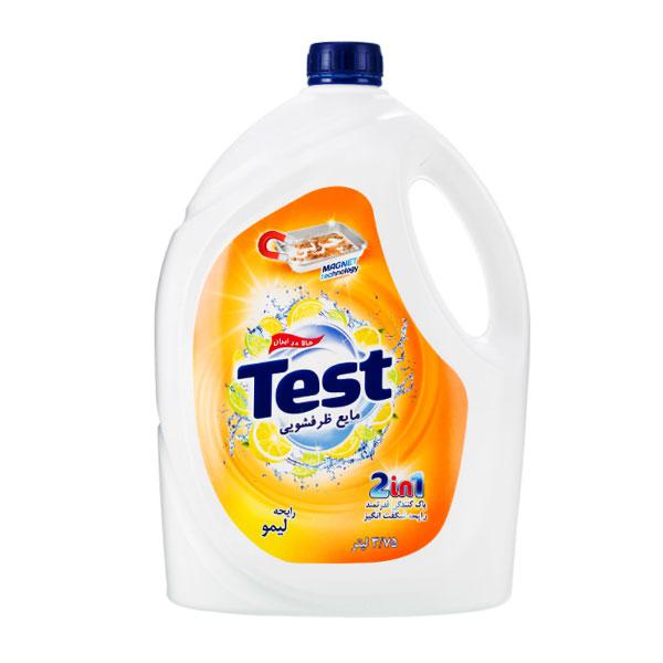 مایع ظرفشویی تست 2in1 با رایحه لیمو حجم 3750ml