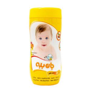 دستمال مرطوب جان ببه حاوی مواد مغذی پوست کودک  72 عدد