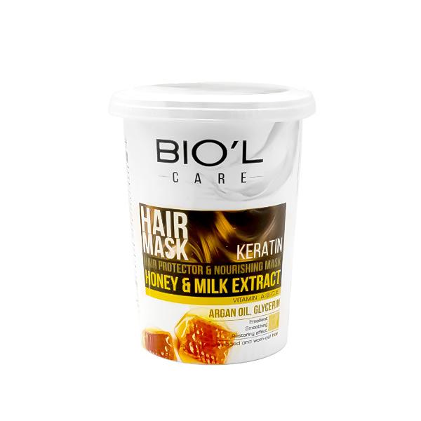 ماسک مغذی مو بیول حاوی شیر و عسل 500ml