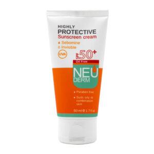 کرم ضد آفتاب نئودرم برای پوست چرب و مختلط SPF50 حجم 50ml