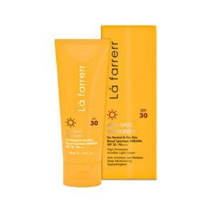 کرم ضد آفتاب و ضدلک بیرنگ لافارر برای پوست خشک SPF30 حجم 40ml