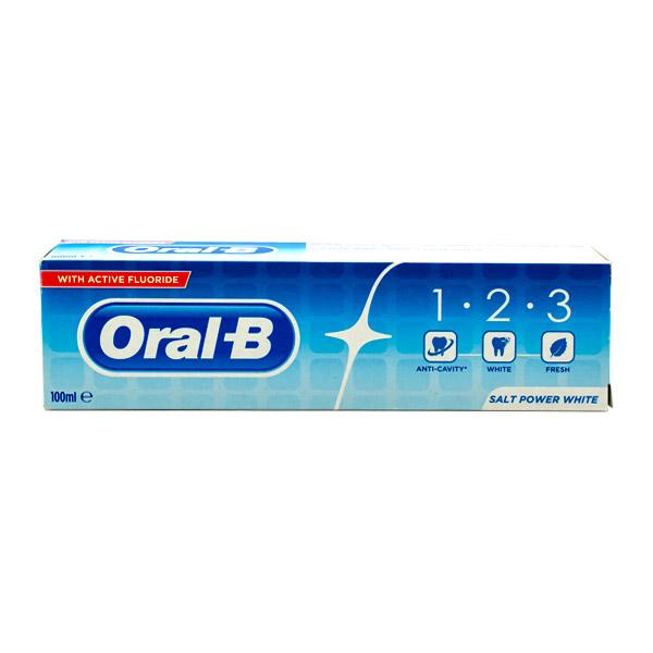 خمیر دندان سفیدکننده اورال بی 1.2.3 حجم 100 میلی لیتر