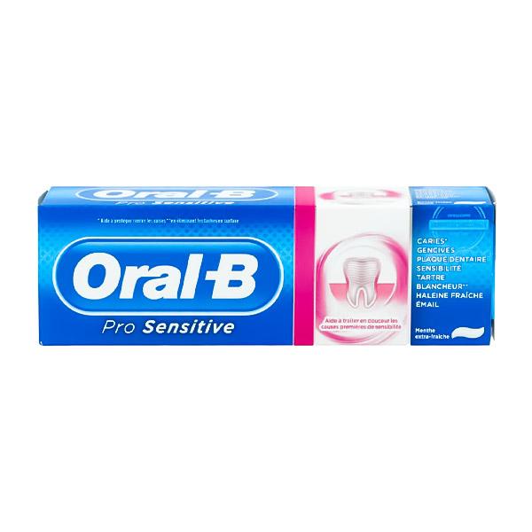 خمیر دندان اورال بی مدل Pro Sensitive حجم 75ml