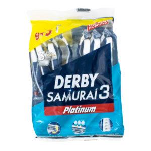 خود تراش مردانه دربی مدل Samurai 3  بسته 9+3 عددی