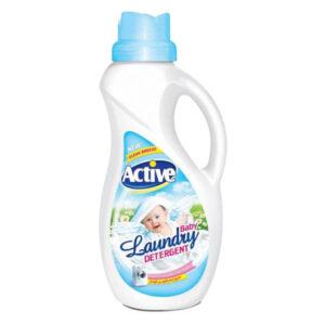 مایع لباسشویی آبی اکتیو مخصوص لباس های کودک وزن 1500 گرم