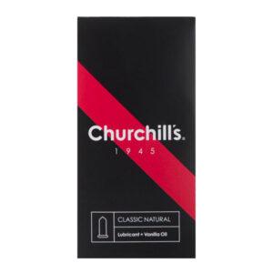 کاندوم چرچیلز مدل Classic Natural بسته 12 عددی