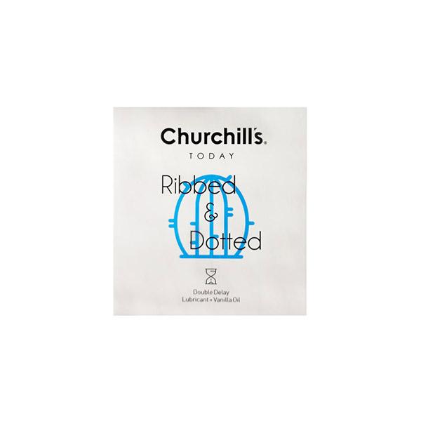 کاندوم Ribbed & Dotted چرچیلز بسته 3 عددی