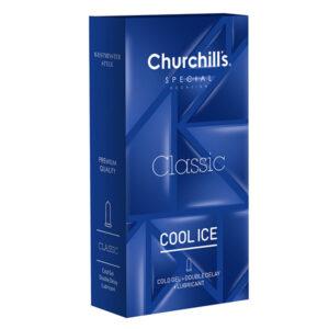 کاندوم تاخیری و خنک کننده چرچیلز Cool Ice بسته 12 عددی