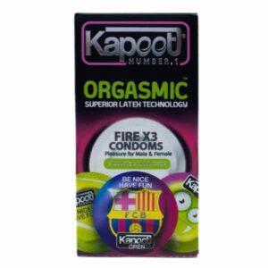 کاندوم خاردار و حلقه دار کاپوت مدل Orgasmic بسته 12 عددی