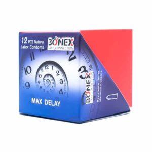 کاندوم بونکس مدل Max Delay بسته 12 عددی