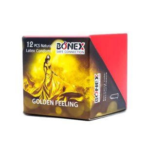 کاندوم بونکس مدل Golden feeling بسته 12 عددی