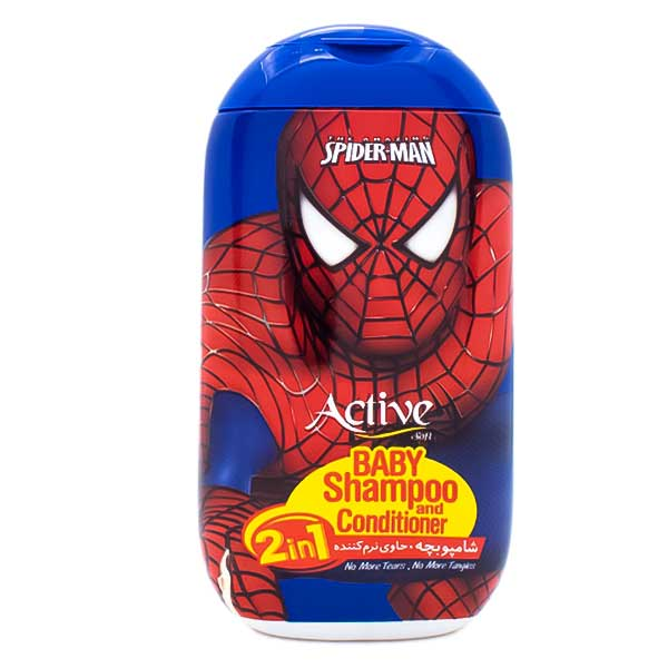 شامپو بچه اکتیو طرح مرد عنکبوتی