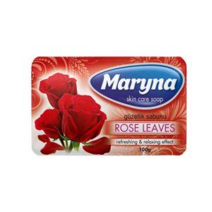 صابون محافظت از پوست مارینا با رایحه برگ گل رز 100g بسته 6 تایی