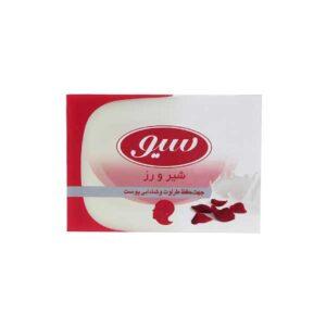 صابون سیو حاوی پروتئین شیر و عصاره گل رز وزن 125g بسته 5 تایی