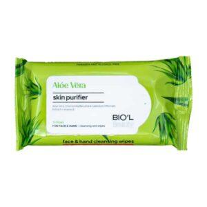 دستمال مرطوب بیول Aloe Vera مناسب انواع پوست بسته 10 عددی