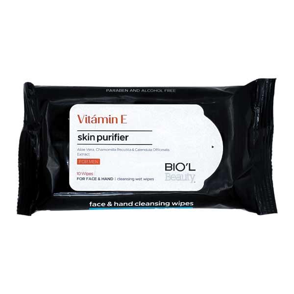 دستمال مرطوب بیول Vitamin E مناسب انواع پوست