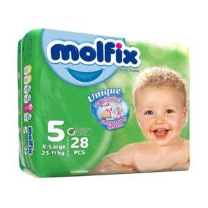 پوشک کودک مولفیکس سایز 5 بسته 28عددی