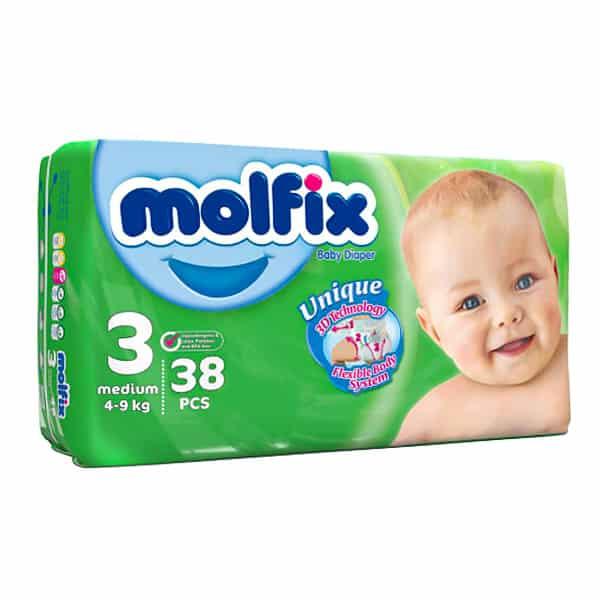 پوشک کودک مولفیکس سایز 3 بسته