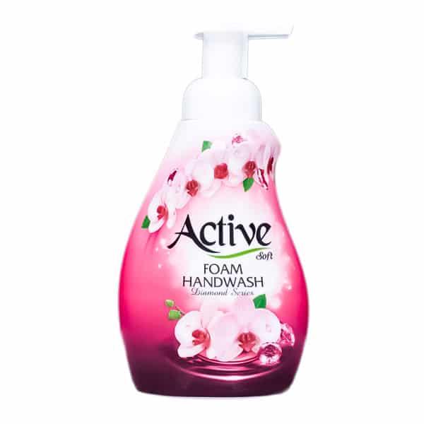 مایع دستشویی فومی اکتیو طرح Pink flowers