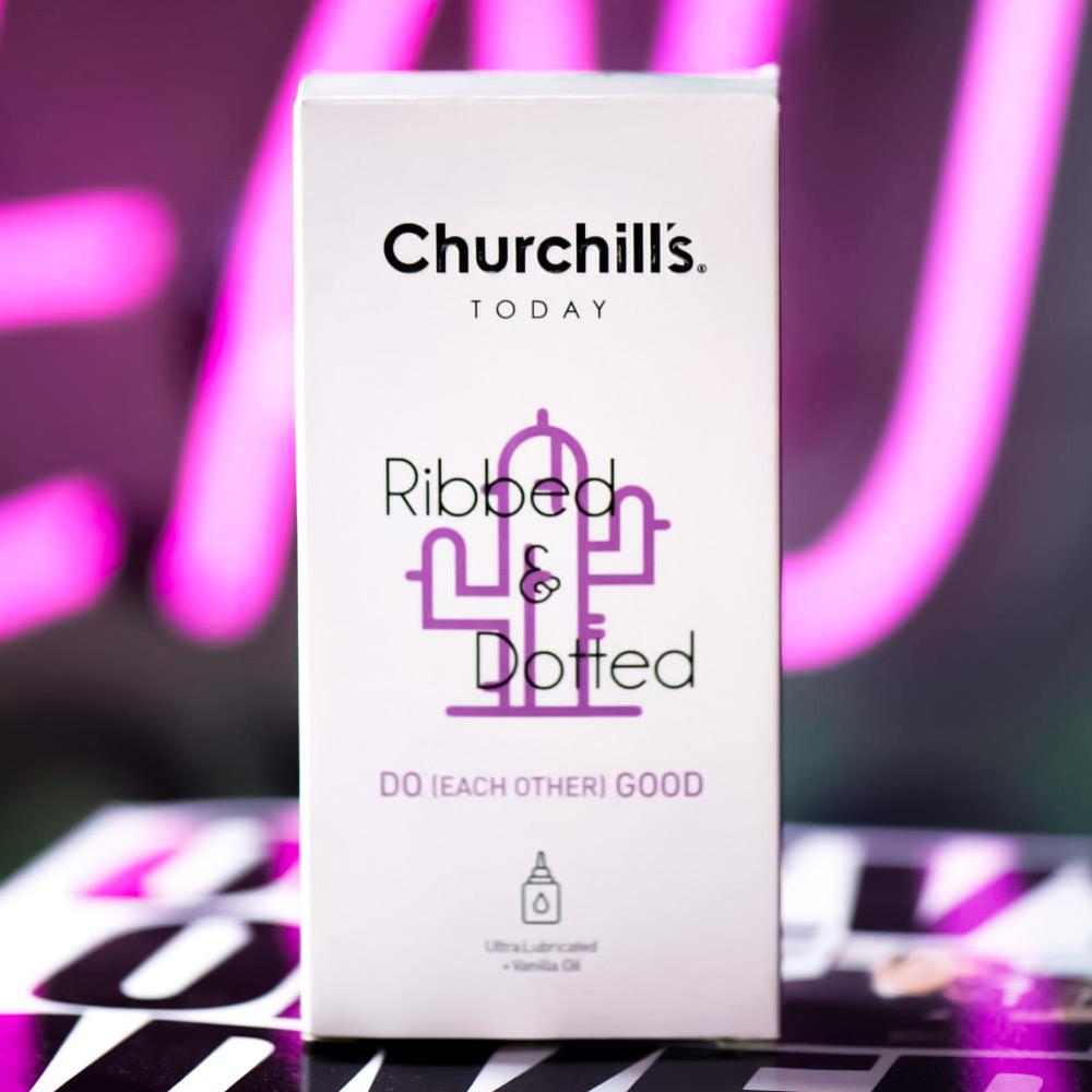 ads picture for churchill's condom