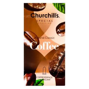 کاندوم با رایحه قهوه چرچیلز Coffee بسته 12 عددی